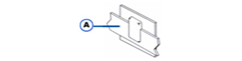 ABS-4 Horizontal or Vertical Thru Bar to Horizontal Steel Surface