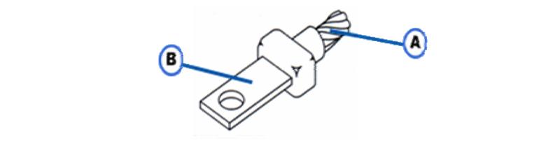ACB-1 Horizontal Cable Tap to Horizontal Lug or Bus