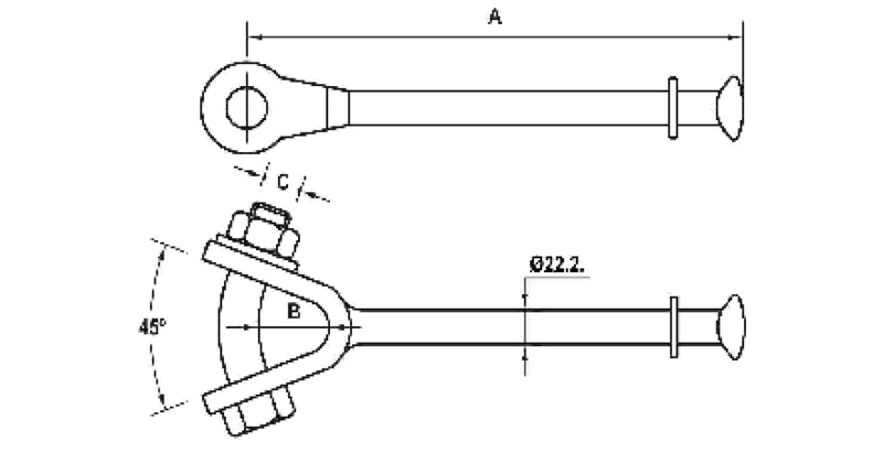 Hot Line Y-Ball Clevis