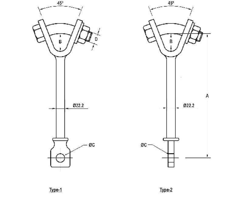 Hot Line Y- Clevis Eye