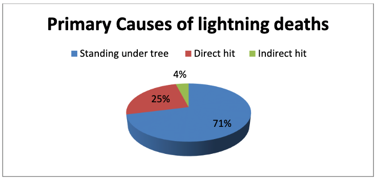 Primary cause of Lightning Deaths