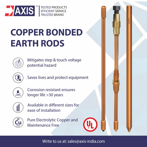 Axis Copper Bonded Earth Rods